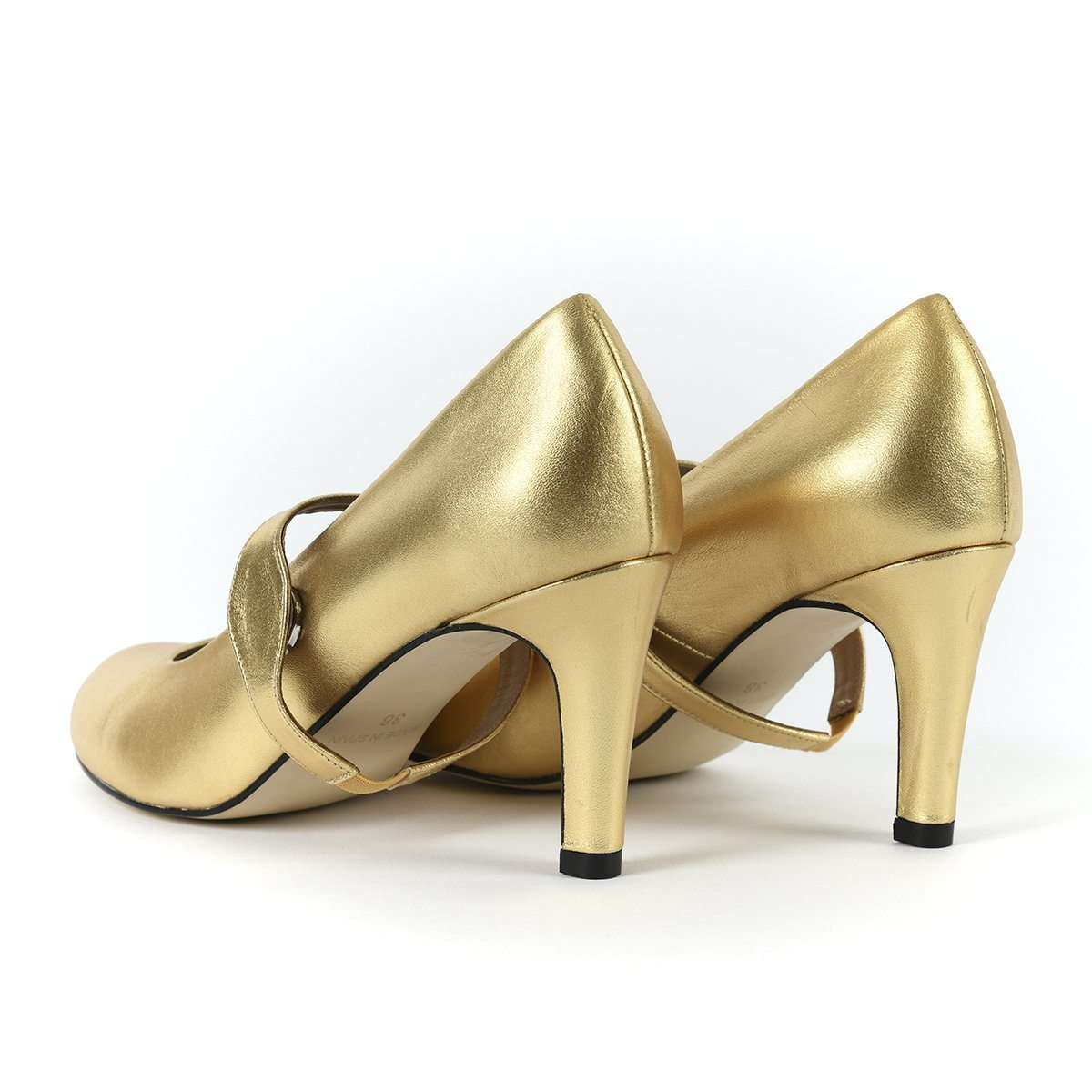 Take My Lead - 18 Hour Heels - Metallic Gold - Shoes by Shaherazad