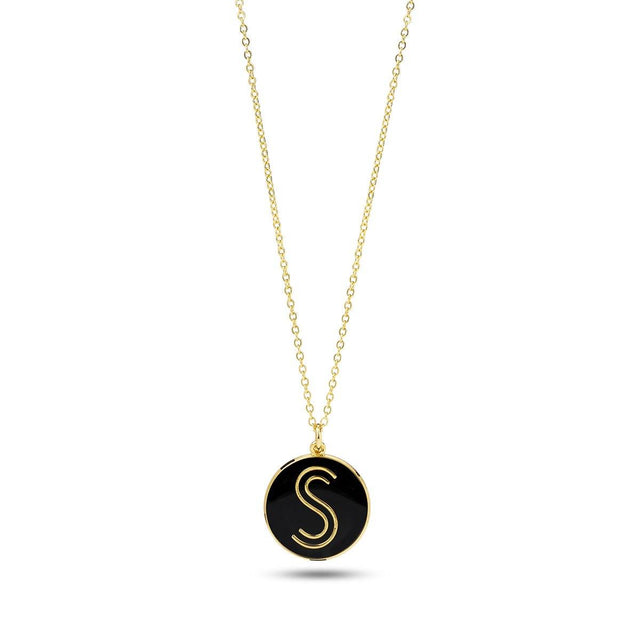 S Logo 18 Carat Gold Necklace - Shoes by Shaherazad