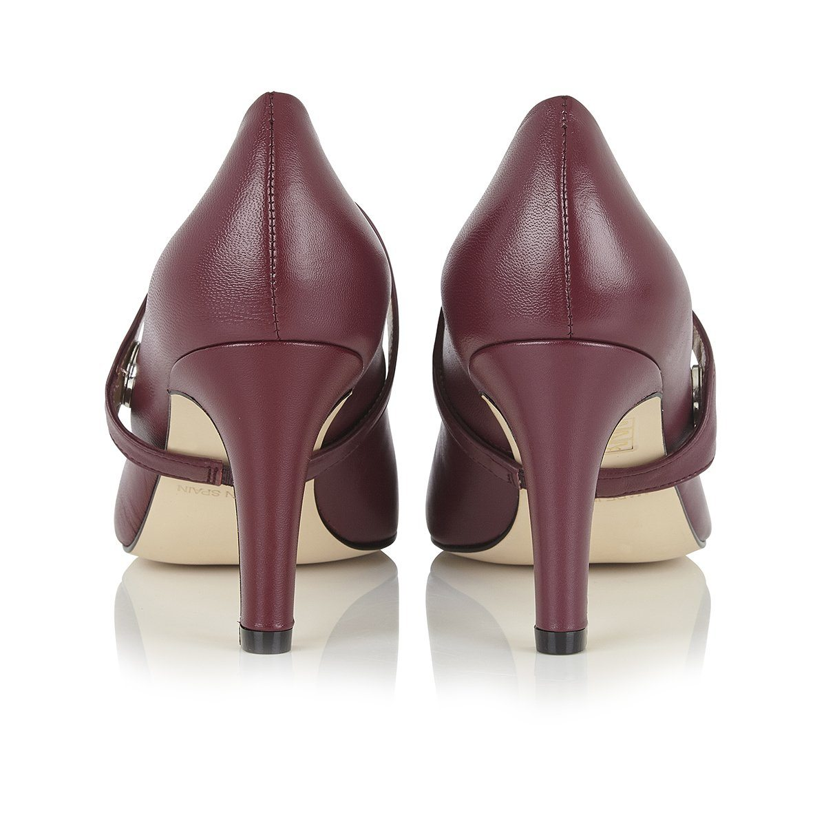 Create a Buzz - 18 Hour Heels - Plum Nappa Leather - Shoes by Shaherazad