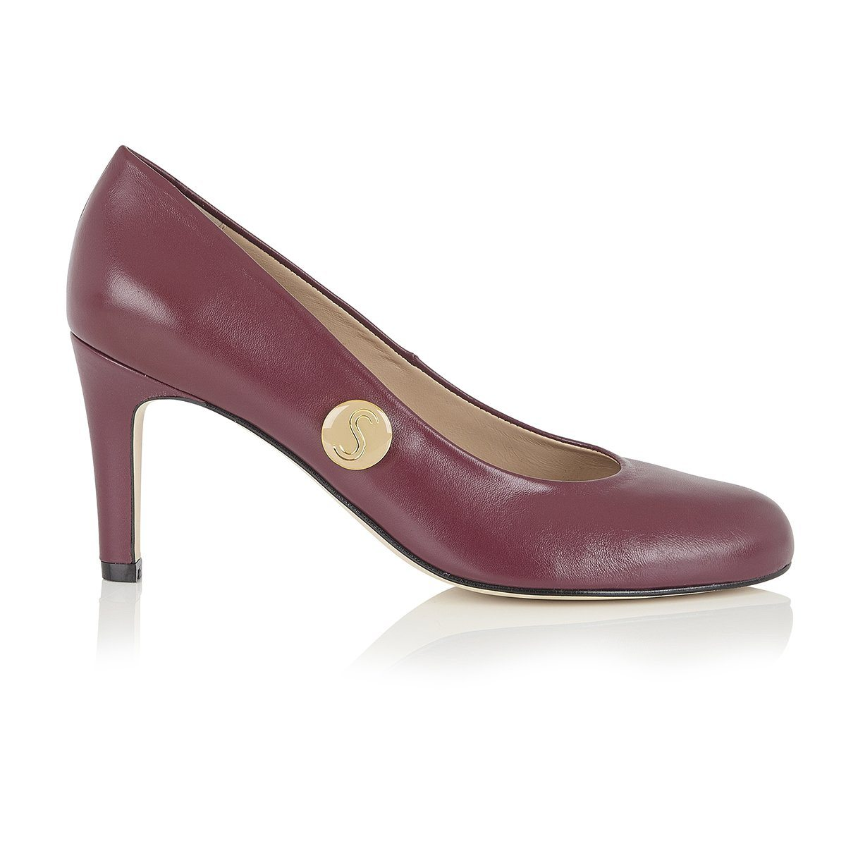 Stand Tall Sister - 18 Hour Heels - Plum Nappa Leather - Shoes by Shaherazad