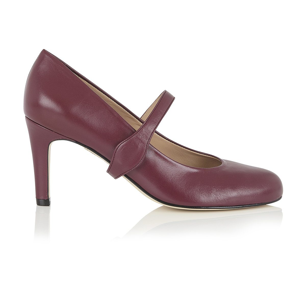 Take My Lead - 18 Hour Heels - Plum Nappa Leather - Shoes by Shaherazad