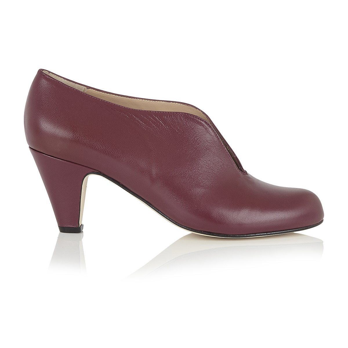 Boss Lady - Luxury Plum Shoe Boots - Shoes by Shaherazad