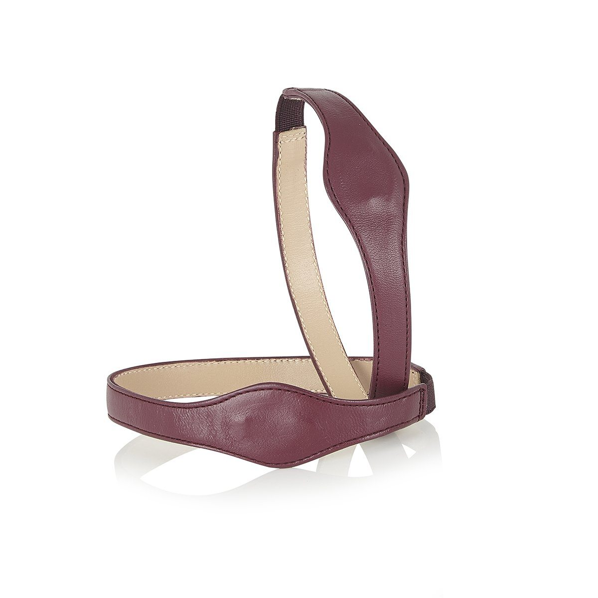 Follow Your Butterflies - Block Heels - Plum Leather - Shoes by Shaherazad