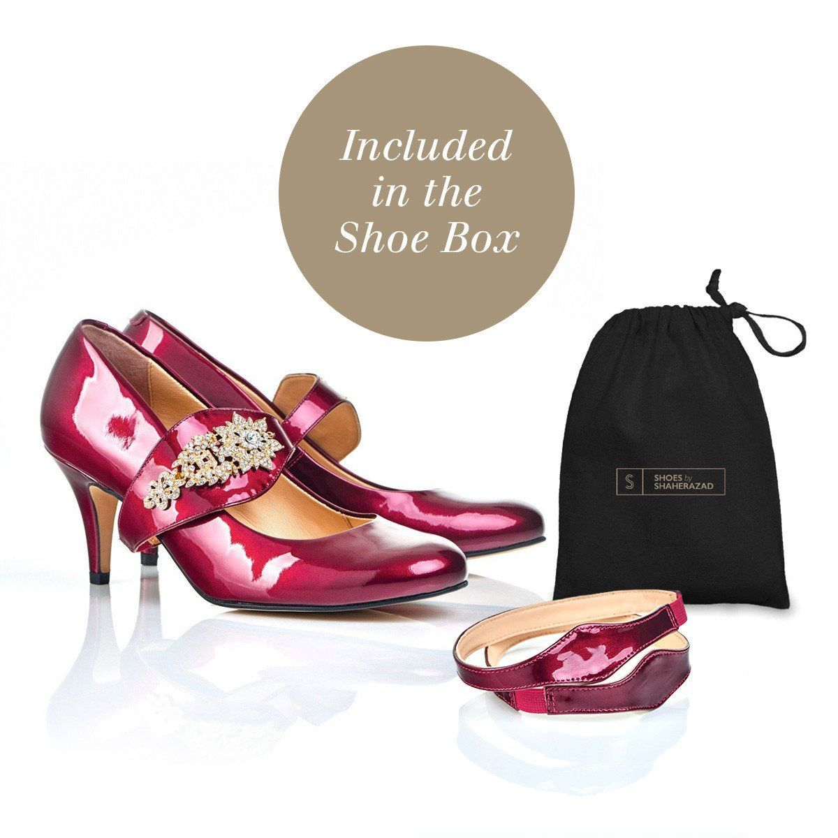 Equally Ever After - 18 Hour Heels - Mulberry Leather - Shoes by Shaherazad