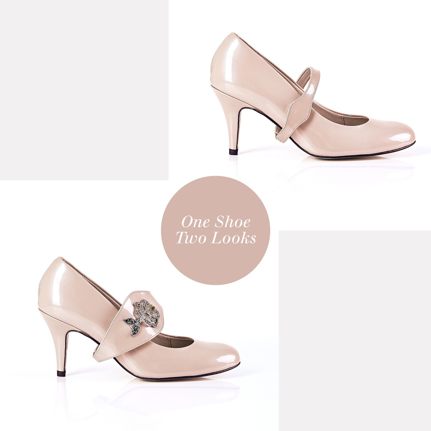 Time To Bloom - 18 Hour Heels - Blush Leather - Shoes by Shaherazad