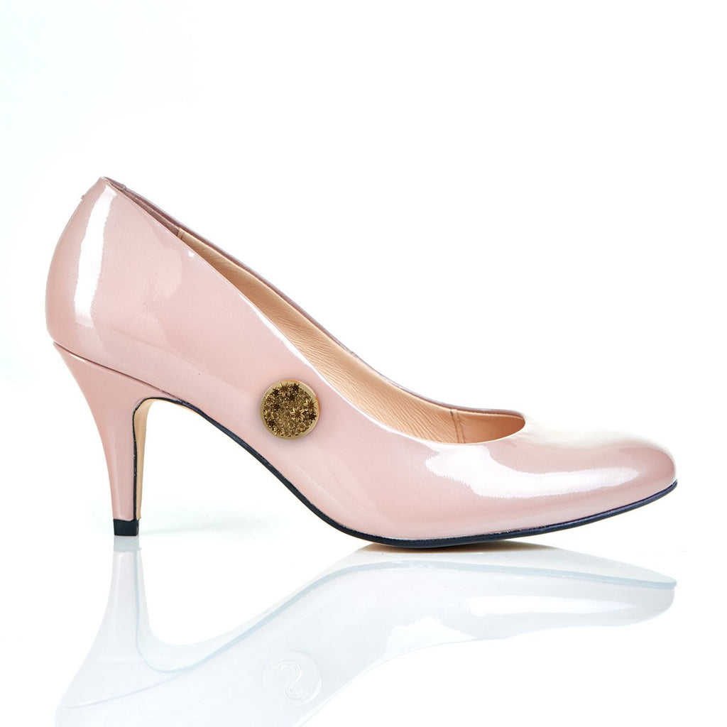 She's a Wildflower in Blush - Luxury Leather Shoes
