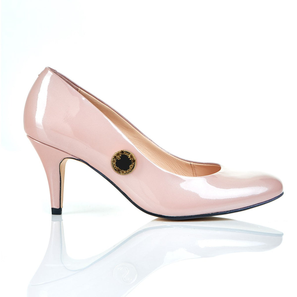 Garden of Dreams in Blush - Luxury Leather Shoes