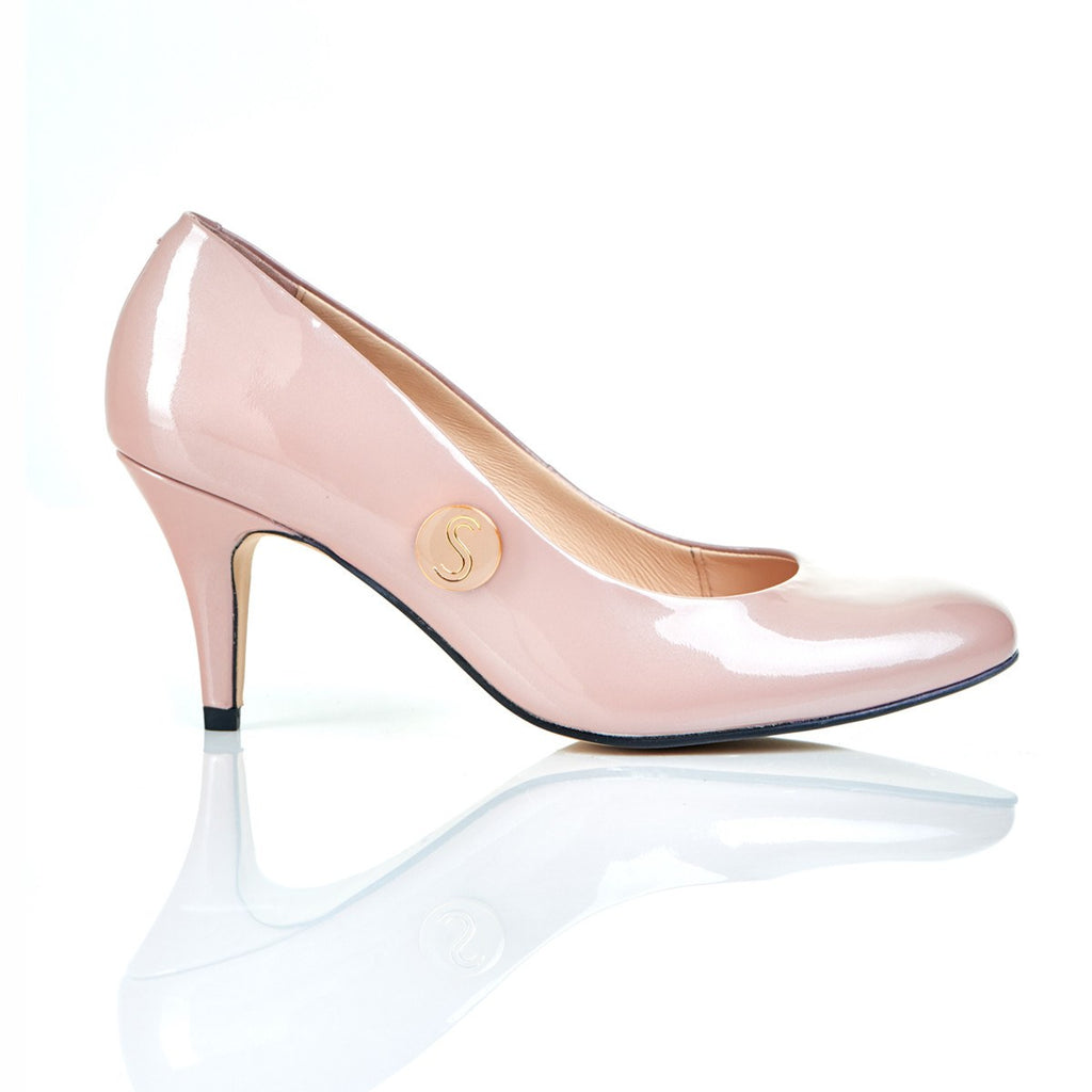 Heart of Gold in Blush - Luxury Leather Shoes