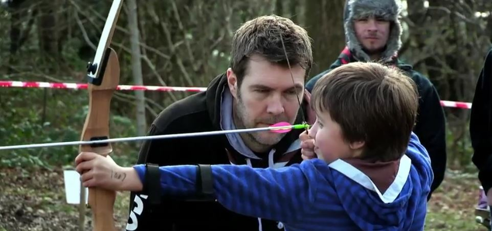 Clip of Rhod Gilbert's Work Experience Scout Leader