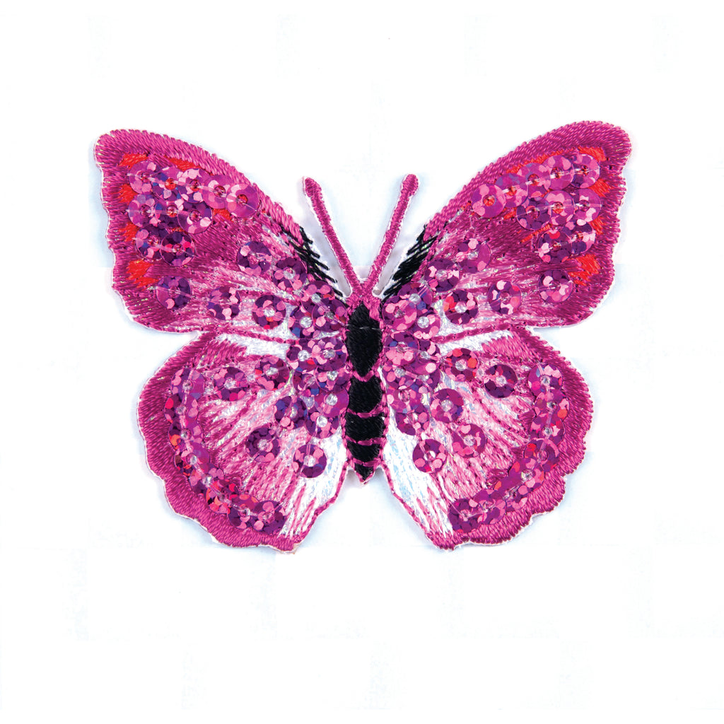Pink Sequin Butterfly