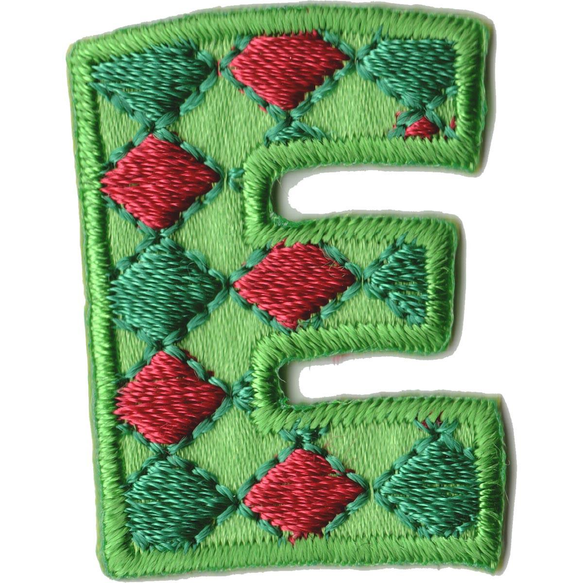 Embroidered - Alphabet Letter E