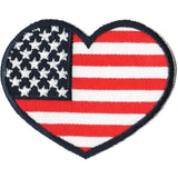 Embroidered - American Flag Heart