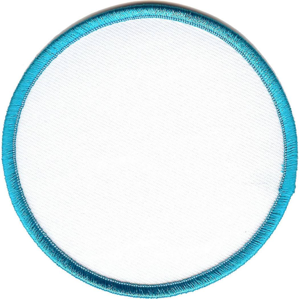 Embroidered - Blank Badge (Aqua)