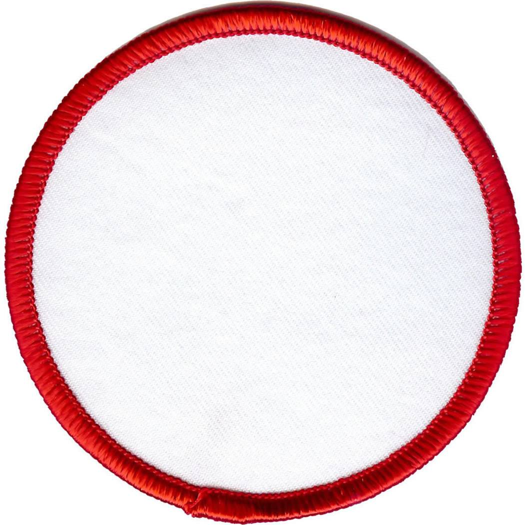 Embroidered - Blank Badge (Red)