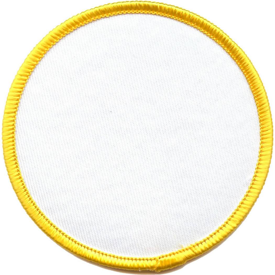 Embroidered - Blank Badge (Yellow)