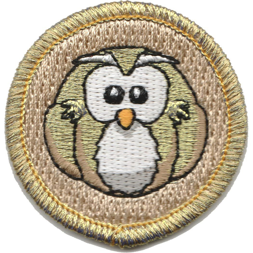 Embroidered - Blank Golden Owl