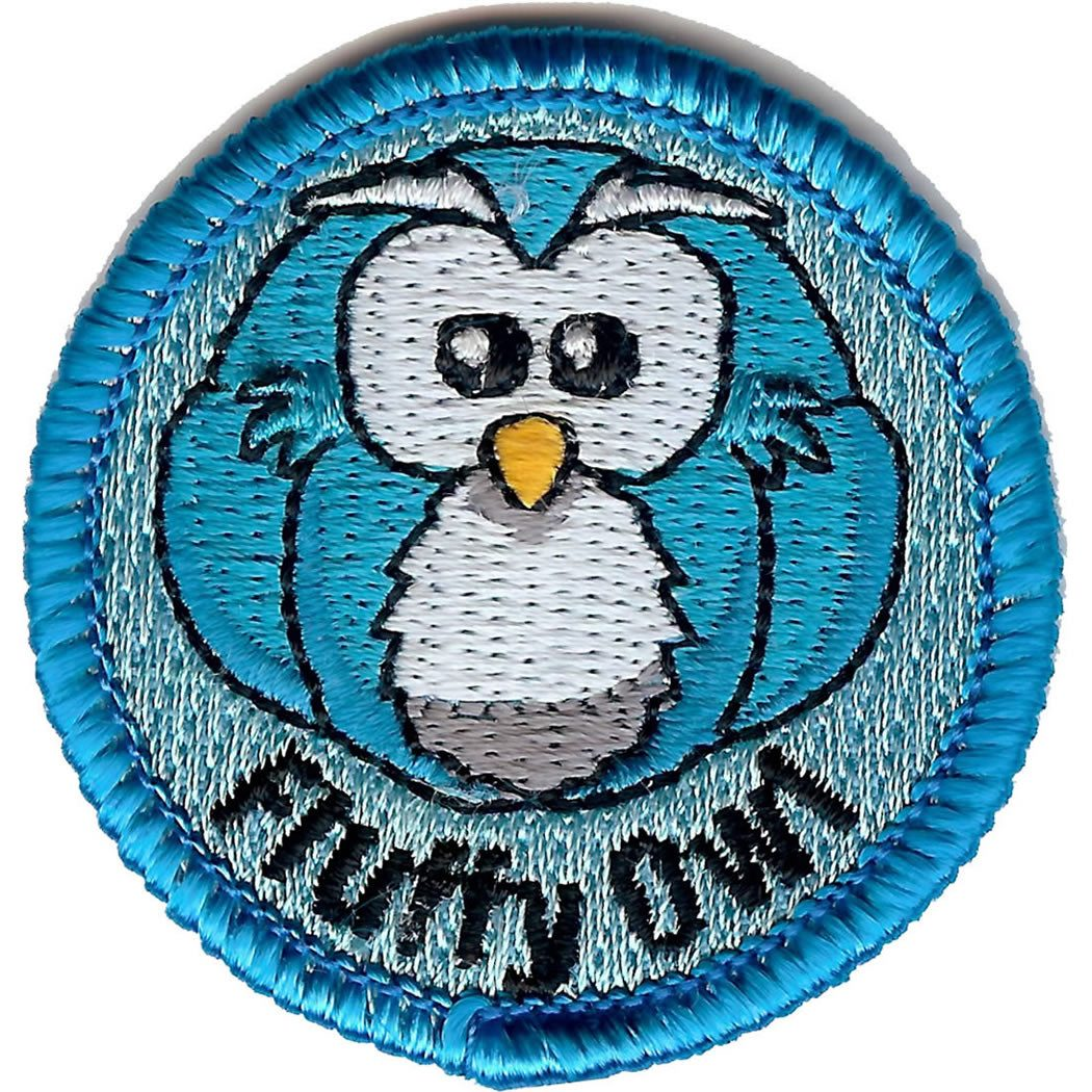 Embroidered - Fluffy Owl