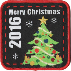 Embroidered - Merry Christmas 2016