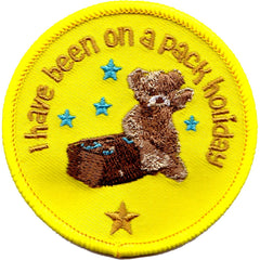 I have been on a Pack Holiday Embroidered Cloth Badge