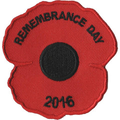 Embroidered - Remembrance Poppy 2016