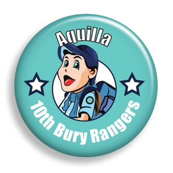 Pin - Aqua Nametag (pin)