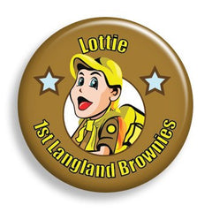 Pin - Brown Nametag (pin)