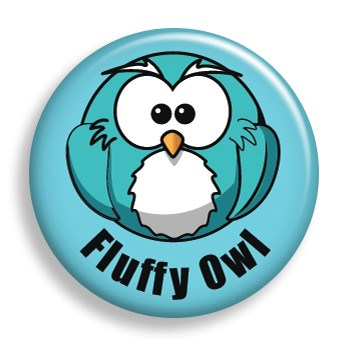 Fluffy Owl (pin)