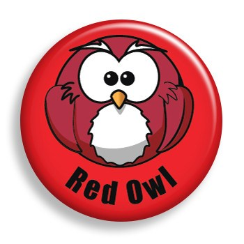 Red Owl (pin)