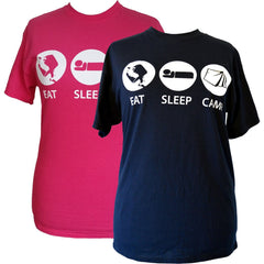 T-Shirts - Eat Sleep Camp T-Shirt