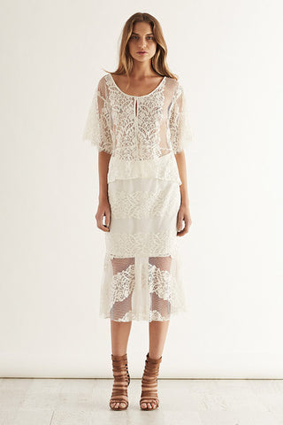 May the label white lace outfit perfection