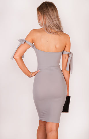 Sabrina Tie Detail  Bodycon