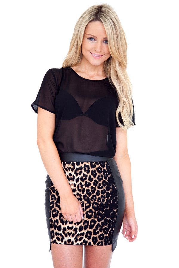 Get My Leopard On Skirt