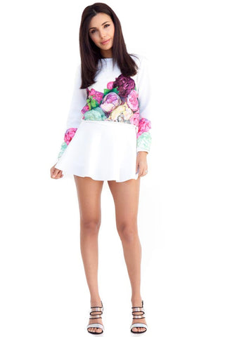 Jessica Two Piece Set White