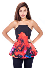 Obsession Bodice Rose Cluster
