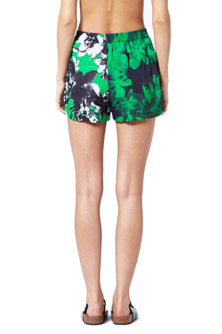 Photographic Green Elastacised Shorts