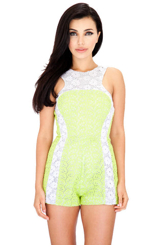 Lace Block Playsuit