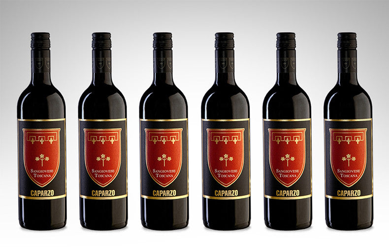 Sangiovese di Toscana by Caparzo (Case of 6 - Italian Red Wine)