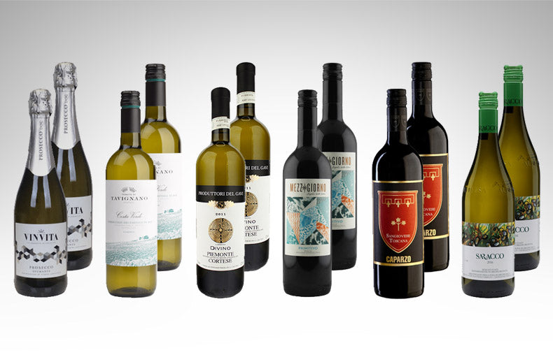 Christmas Case of 12 Italian Wine Selection