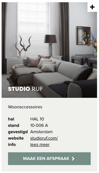Studio RUF at the VT Wonen and Design Beurs