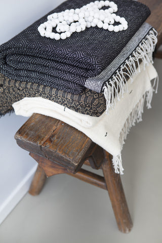 Black Beauty • Throw - Studio RUF • Luxurious Throws Pillows Bedcovers • Handmade in Morocco - 5