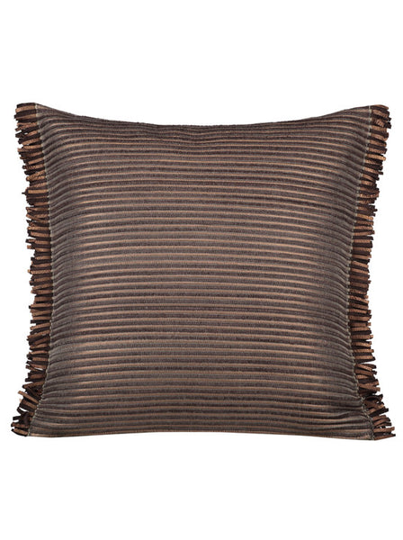 Suede Leather Feather Brown • Pillow - Studio RUF • Luxurious Throws Pillows Bedcovers • Handmade in Morocco - 1
