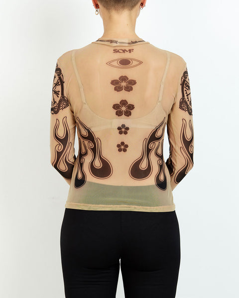 Tattoo mesh top