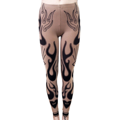 Fire tattoo leggings