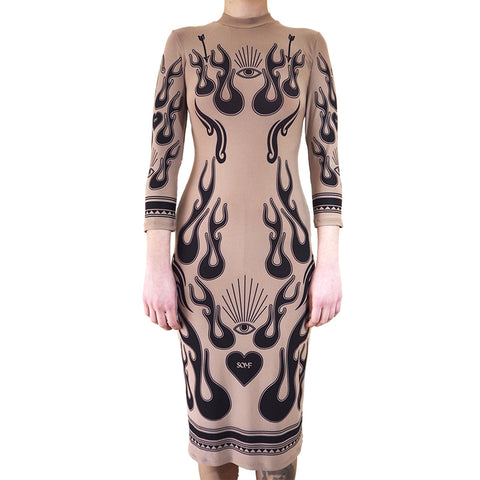 Fire tattoo dress