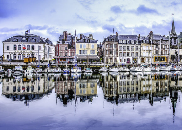 .1743 Pack of 5 Greeting Cards Old Harbour Honfleur