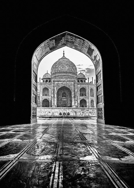 "Taj Mahal Framed India  Print 5"" x 7"""