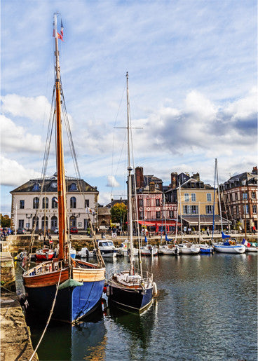 "Sailing Boats Honfleur France Print 5"" x 7"""