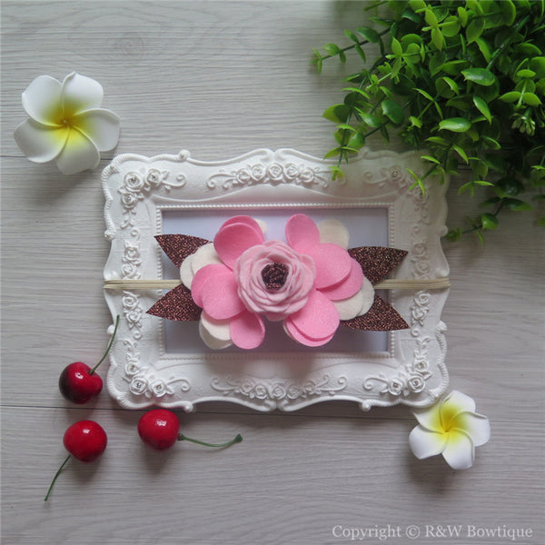 Feeling Fallish Felt Flower Crown Headband