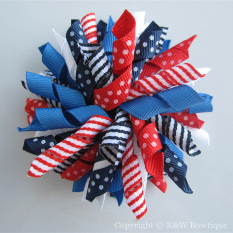 4th of July Korker Hair Bow