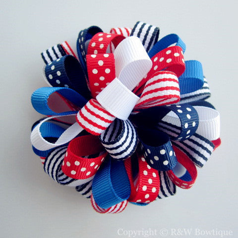 4th of July Loopy Hair Bow